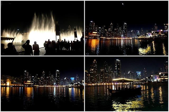 espectáculo de fuentes en Dubai