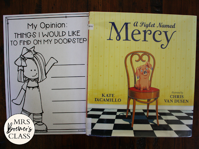 A Piglet Named Mercy Watson book activities with a Common Core aligned companion book study unit and craftivity for Kindergarten and First Grade