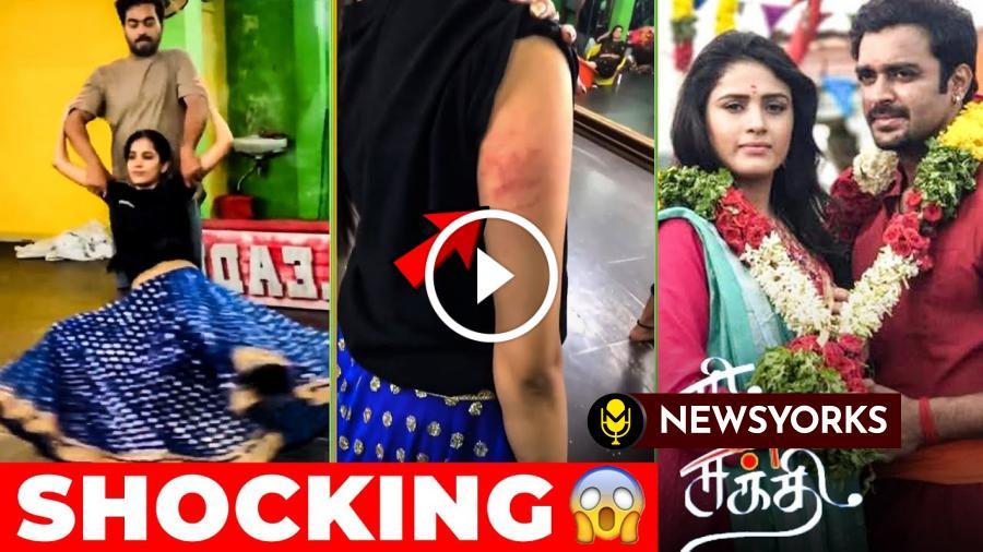 விஜய்டிவி சீரியல் ஹீரோயின்க்கு DANCE ஆடும் போது  நடந்த விபரிதம் !!