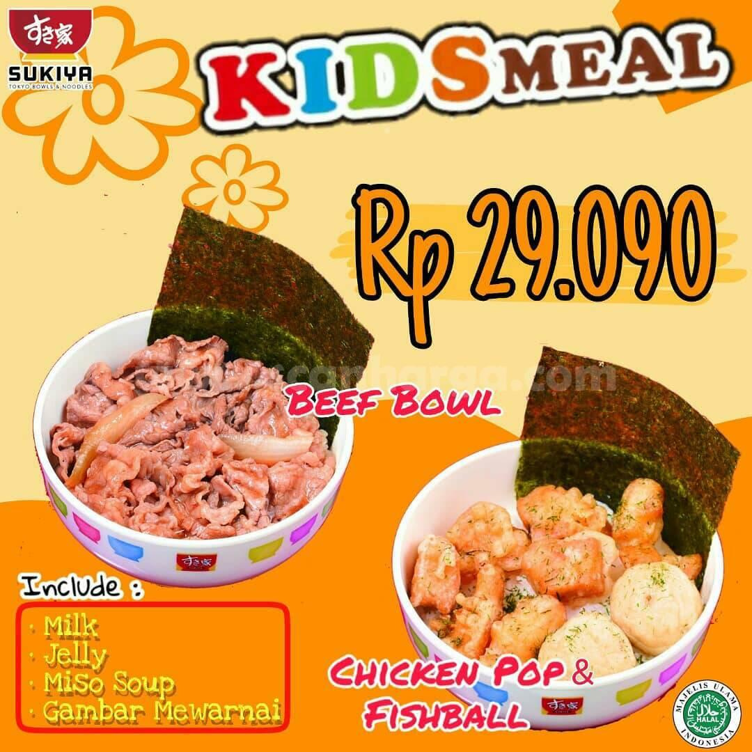 SUKIYA harga menu KIDS MEAL cuma Rp 29.090