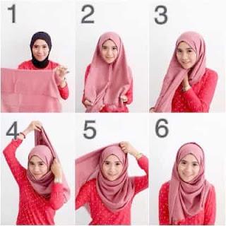 Cara Mengenakan Hijab Pashmina