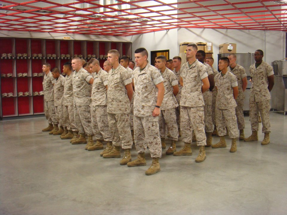 Marine recruit mom: Marine ranks: PFC-plus