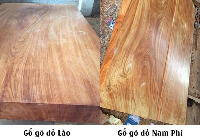 gỗ gõ đỏ nào tốt