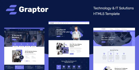 Best Technology & IT Solutions HTML5 Responsive Template