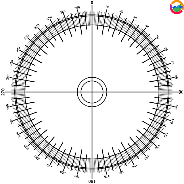 Protractor for Adobe Photoshop White