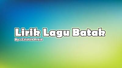 Lirik Lagu Batak, Tangiang Nami Tu Dainang |O Inang Pangintubu Cipt Drs. Jafar Malau, M.Pd