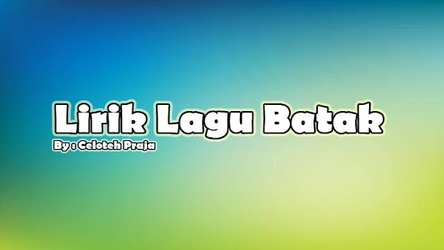 Lirik Lagu Batak Ia Dung Tarida Ma Da Goarmi |Anak Siparbagaon-Jack Marpaung Dan Hilman Padang