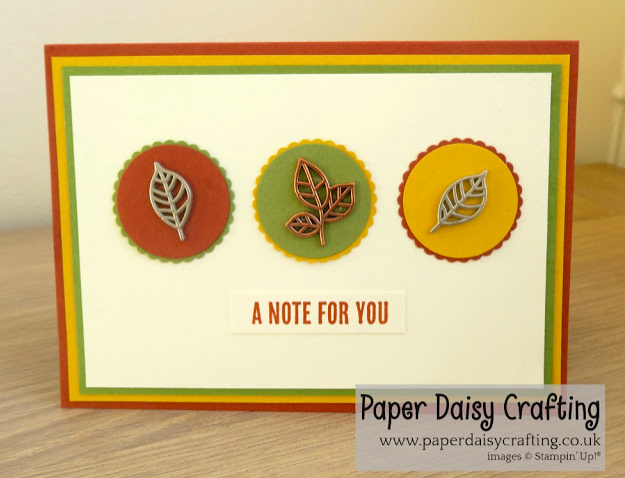 Nigezza Creates with Stampin' Up! & Paper Daisy Crafting & Leaves Trinkets, Wood Words