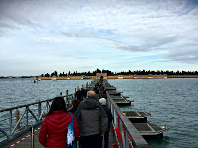Bridge to the Island of the Dead, Venice Italy - San Michele cemetery