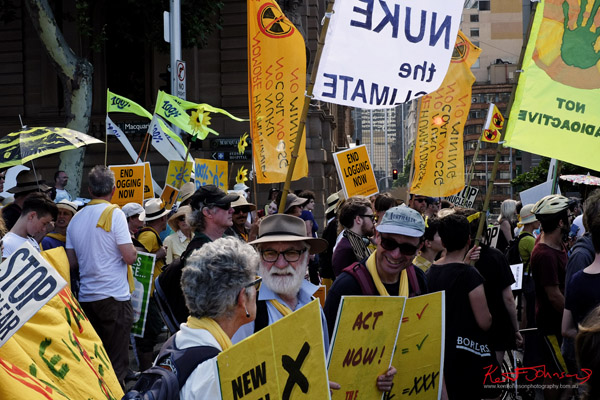 No Nukes, Act Now, crowd marching, Macquarie Street - Sydney, Climate Change March, The Domain, Macquarie Street, Climate Change, Protest, #NoPlanetNoFuture, #PeoplesClimate, #PeoplesClimateMarch, #Sydney,