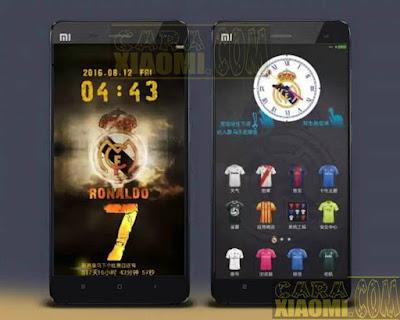 Kumpulan Tema MIUI Football Themes Mtz For Xiaomi KLub Madird