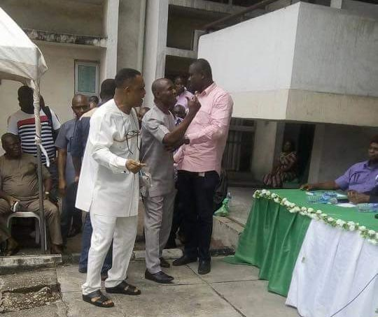 "Video: PDP senatorial candidate Nwogu did an ""Orubebe"" after Rivers INEC declared Magnus Abe winner"