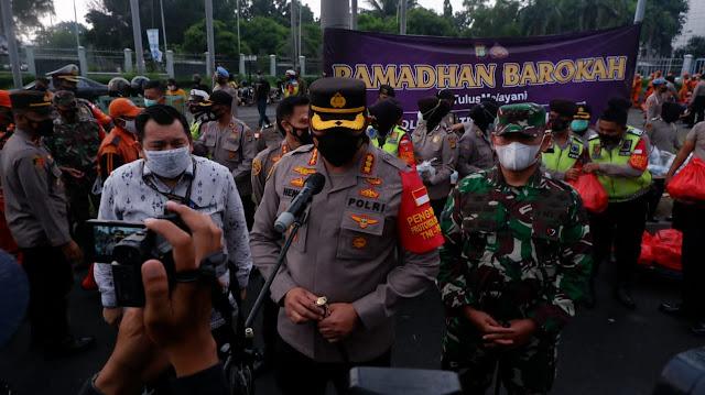 Berbagi Sesama Ini Yang Dilakukan Polres Metro Jakarta Pusat Selama Ramadhan