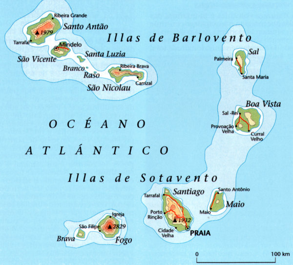 Cabe Verde | Mapas Geográficos de Cabo Verde