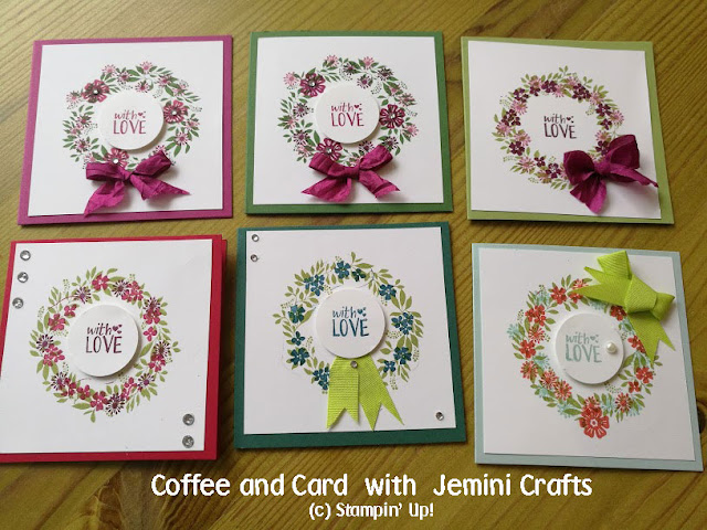 Great colour choices at coffee and card this week.
