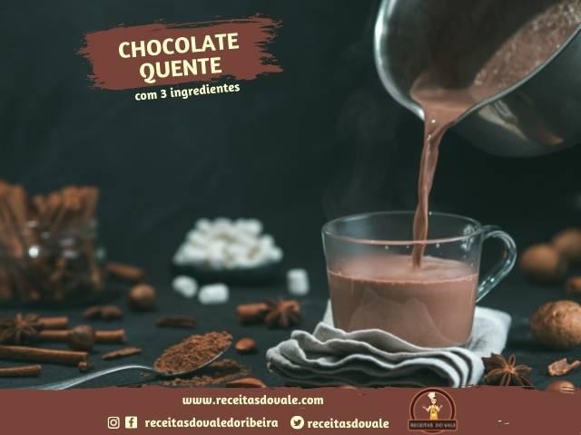 Receita de Chocolate Quente com 3 Ingredientes