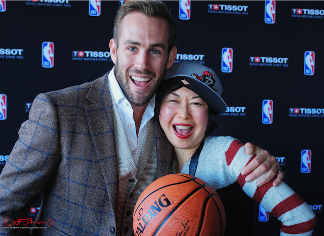 Shaun Birley and Vivienne Shui at the TISSOT NBA Finals Party Sydney - Photography by Kent Johnson.
