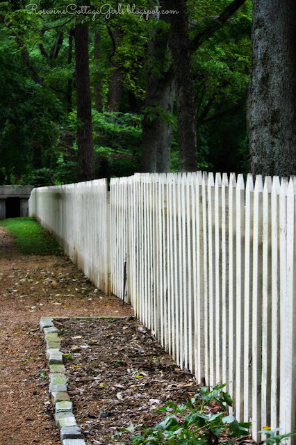 Picket fence in the garden of the Belle Meade Plantation | RosevineCottageGirls.com | (c) Rosevine Cottage Girls