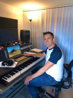 Christian Forshaw in the studio