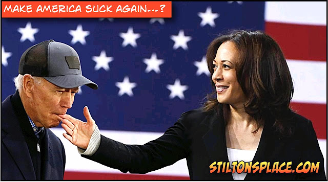 stilton's place, stilton, political, humor, conservative, cartoons, jokes, hope n' change, make america suck, biden, sucking fingers, harris, trump, election day, daylight saving time