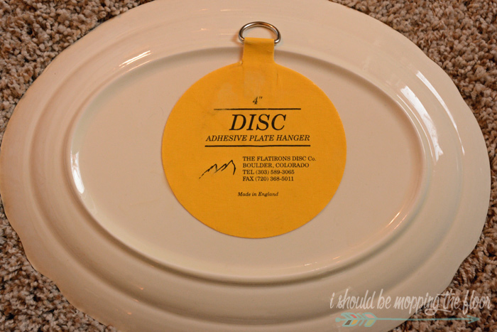 Yellow Disc Plate Hangers