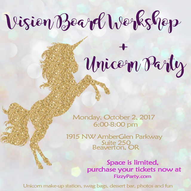 Unicorn vision board workshop