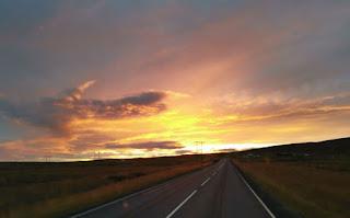 Anochece en la Ring Road. Islandia, Iceland.