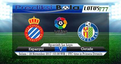 Prediksi skor Espanyol vs Getafe Selasa, 28 November 2017