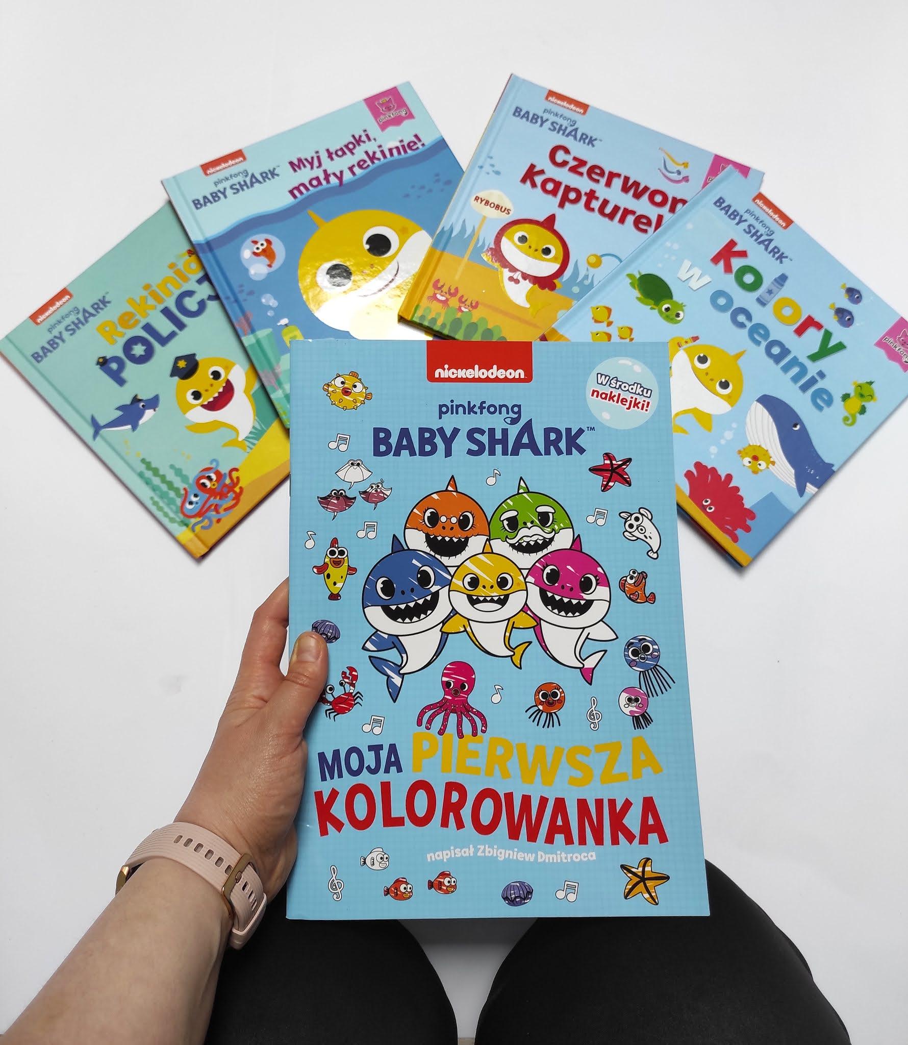 Pinkfog Baby Shark - książeczki dla dzieci na podstawie kultowej piosenki.