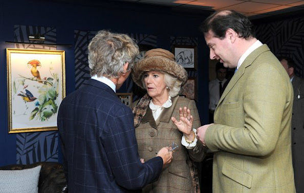 Duchess Camilla of Cornwall attends the 60th Hennessy Gold Cup at Newbury Racecourse