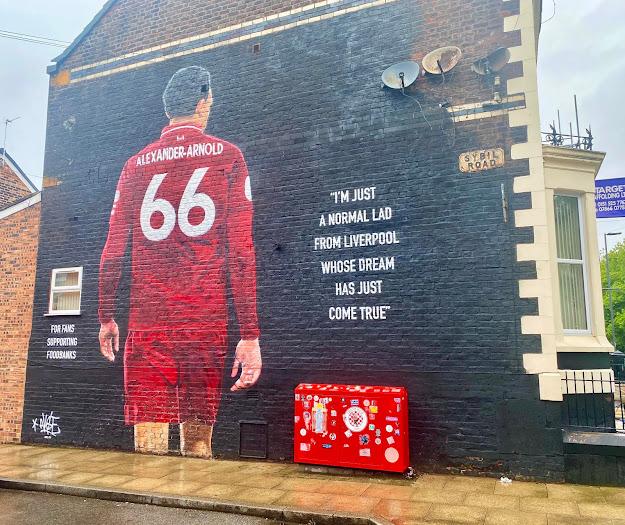 Trent Alexaner Arnold Street Art Mural Graffiti Liverpool Anfield