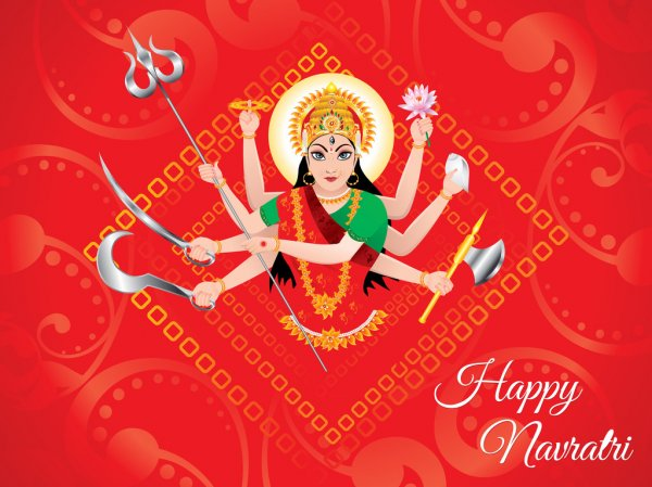 JAI MATA DI / MAA DURGA NAVRATRI GOOD MORNING WISHES IMAGES WALLPAPER PICS HD
