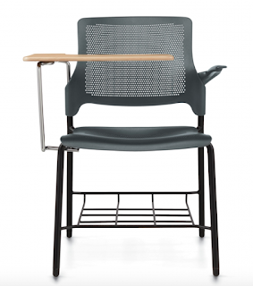 stream tablet chair with bag rack