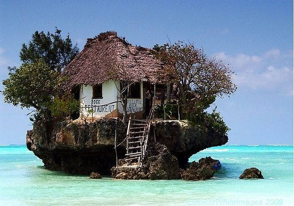 A fish restaurant in Zanzibar