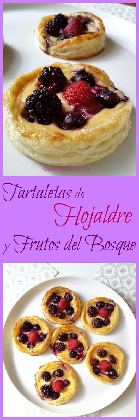 Tartaletas de hojaldre con mascarpone y frutos del bosque