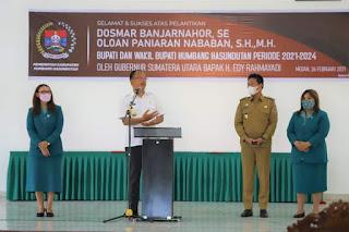 Apel Perdana,  Dosmar Banjarnahor Ajak Semua Unsur Hilangkan Perbedaan, Kembali Bersatu dalam Wujudkan Humbahas yang Lebih Maju