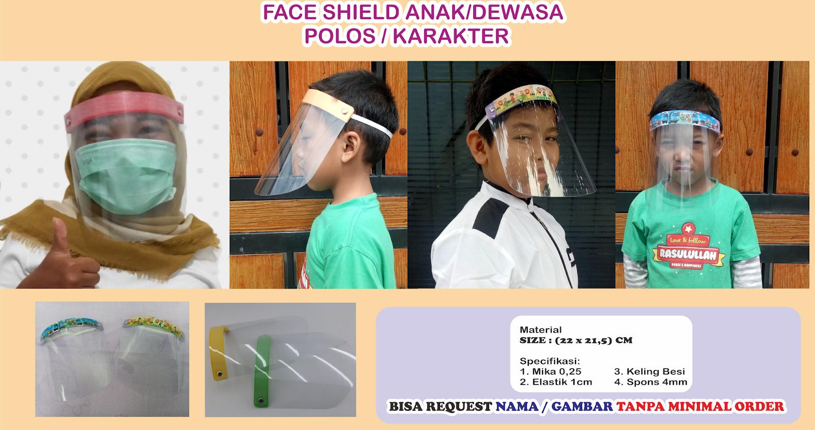 Face Shield Anak Hingga Remaja