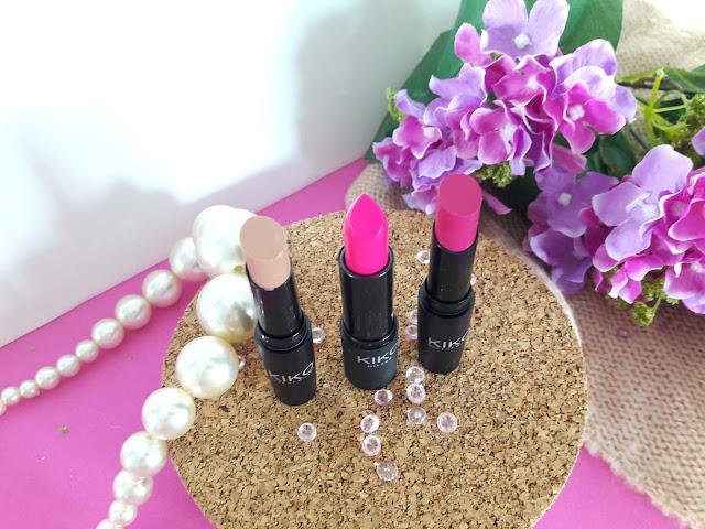 Three lovely lipsticks from Kiko