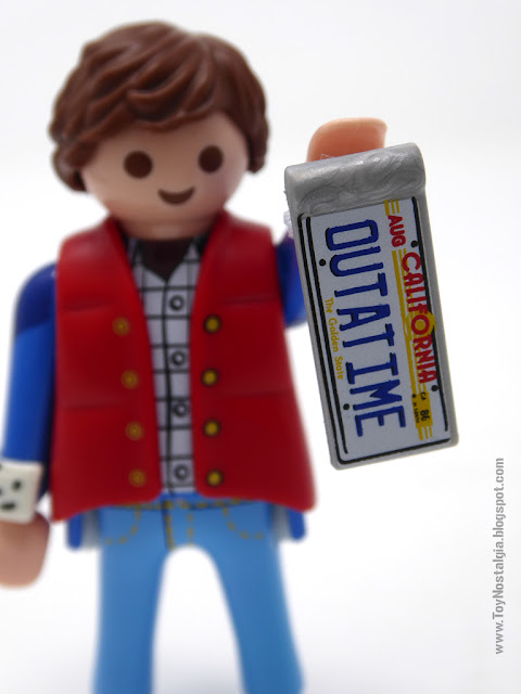 Marty Mc Fly OUT A TIME Plate Playmobil Back To The Future - Advent Calendar (Playmobil Back To The Future - Calendario de Adviento)