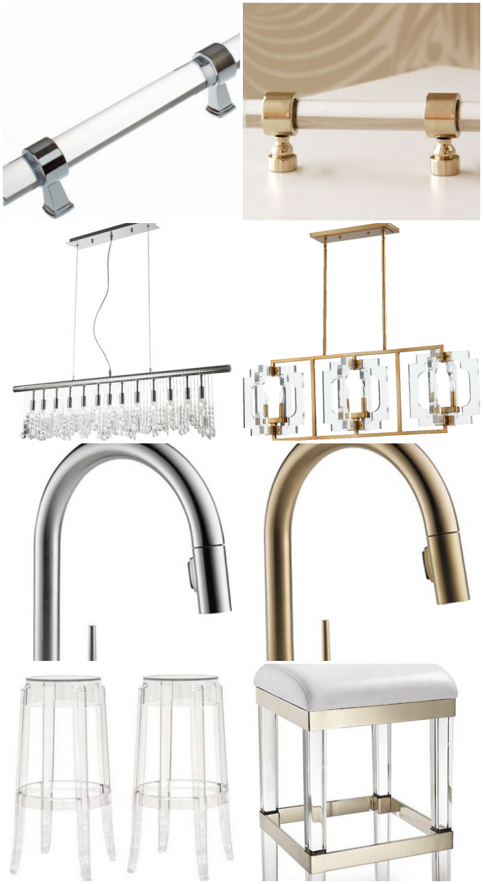 Chrome vs. Brass and Gold Finishes for a Kitchen | via monicawantsit.com