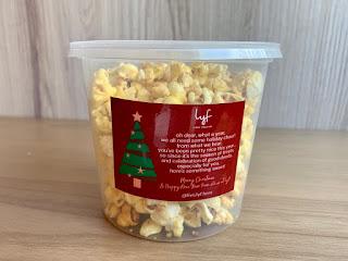 Free popcorn for Christmas at lyf Funan