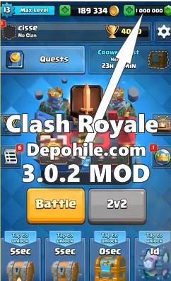Clash Royale 3.0.2 Mod Son Patch Sınırsız Hileli Apk Ekim 2019