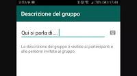 Aggiungere la descrizione ai gruppi Whatsapp