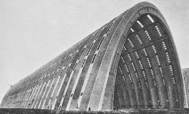 1925 a dirigible hangar in France