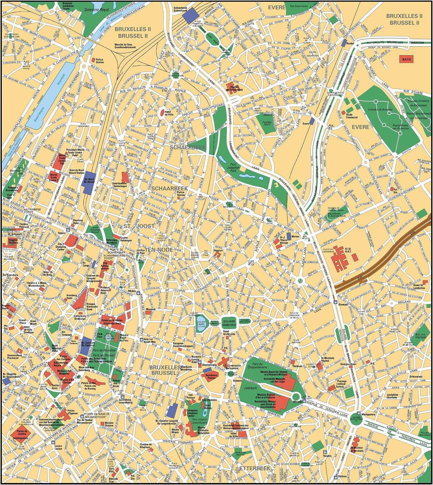 bruxelas mapa Mapas de Bruxelas   Bélgica | MapasBlog bruxelas mapa