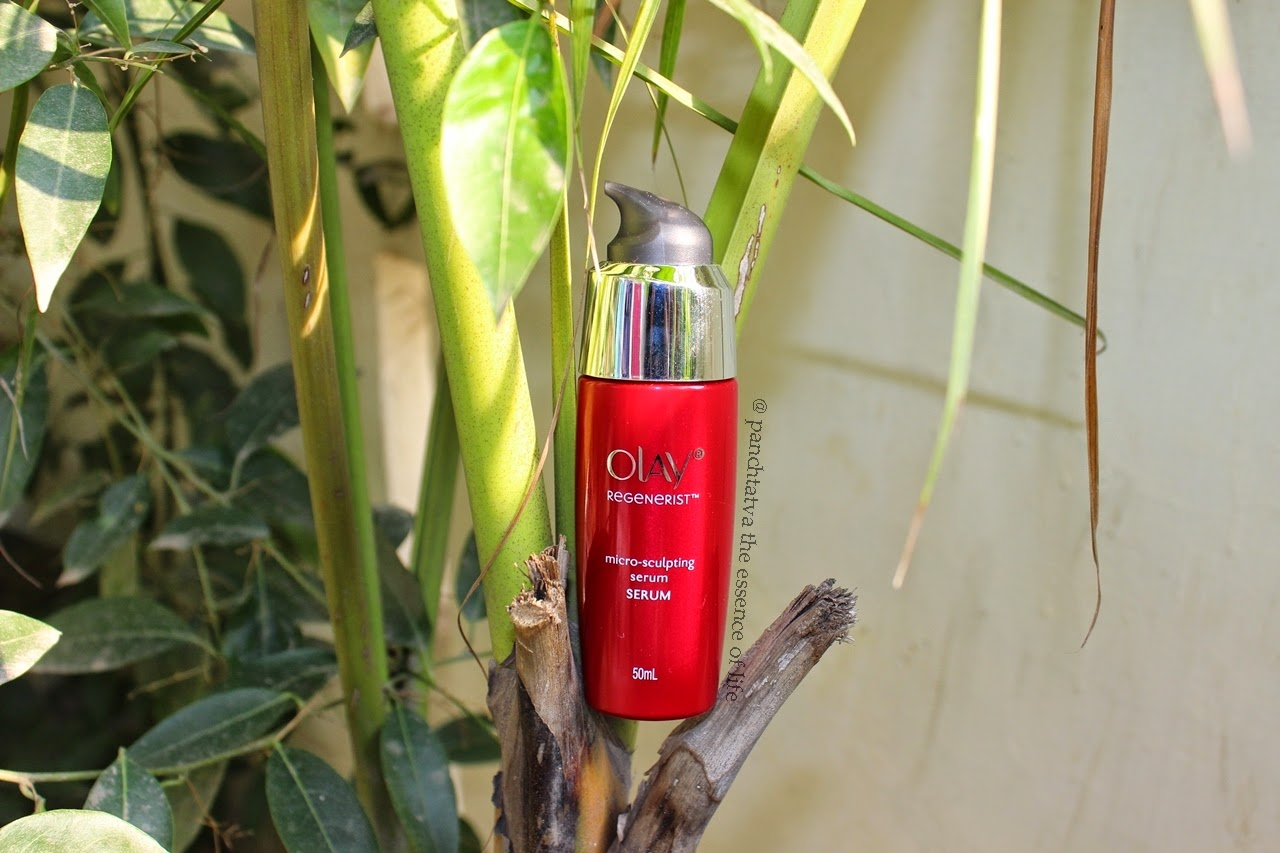 Panchtatva The Essence Of Life Smooth Skin With Olay Regenerist Micro Sclupting Serum By Indian Beauty Blog Microsculpting