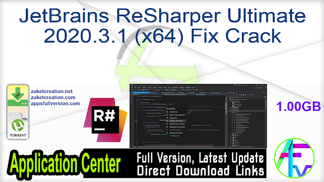 JetBrains ReSharper Ultimate 2020.3.1 (x64) Fix Crack