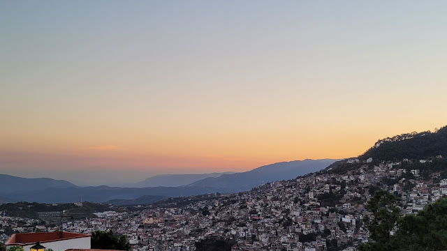 Taxco at sunset