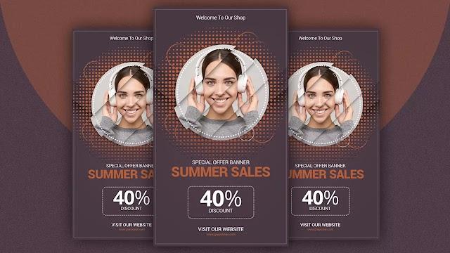 Creative Instagram banner ads Design | Adobe Photoshop Tutorial