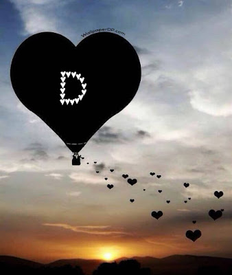 Stylish Love A to Z Heart Flying Balloon Alphabet Letter Dpz